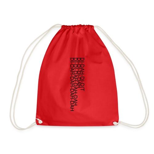 LV21 MORSE TEXT CLOSE VERT - Drawstring Bag