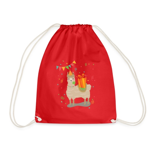 Happy Birthday Lama - Turnbeutel