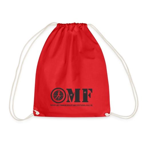 OMF black logo - Drawstring Bag