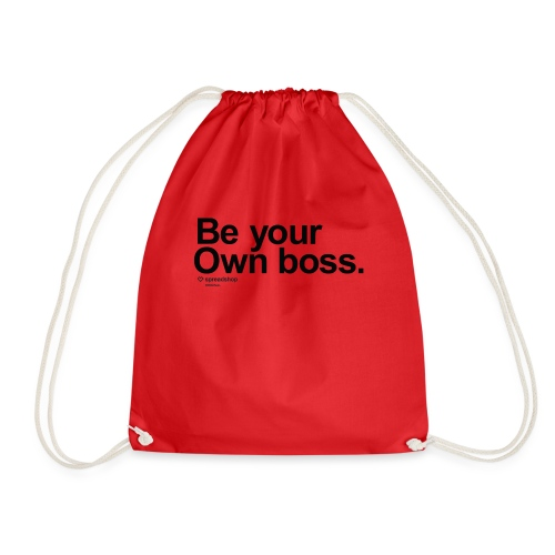 Boss in black - Drawstring Bag