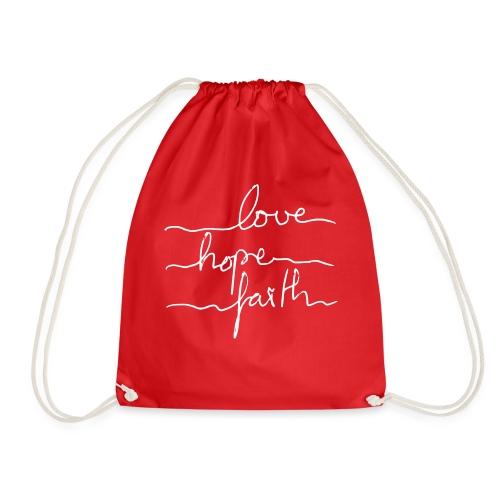 LoveHopeFaith Typo - Turnbeutel