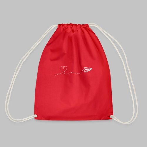 fly heart - Drawstring Bag