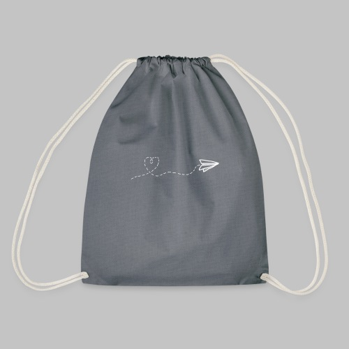 fly heart - Drawstring Bag