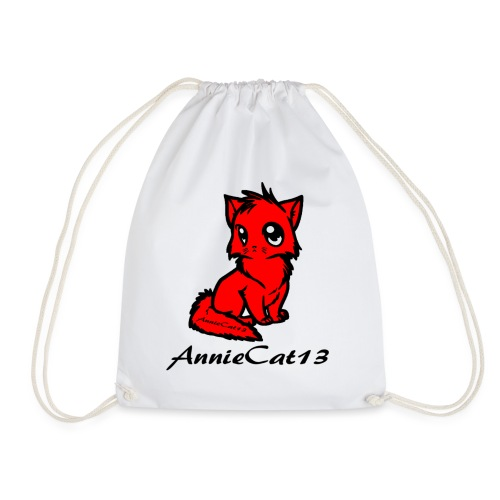 annie cat logo for with writing png - Drawstring Bag