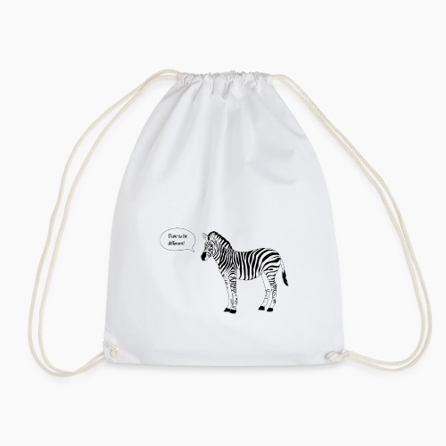 Zebra - Dare to be different - Drawstring Bag