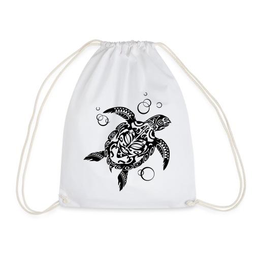 Watchful Turtle - Drawstring Bag