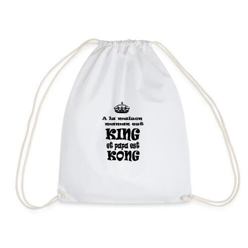 A la maison maman est KING et papa est KONG - Sac de sport léger