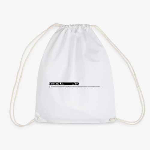 Deleting Fat: Gym, Workout, Fitness - Drawstring Bag