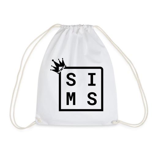 Sims logo black - Drawstring Bag