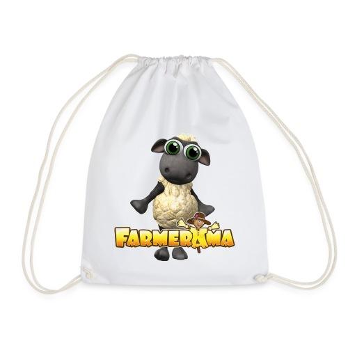Farmerama Logo mit Schaf - Turnbeutel