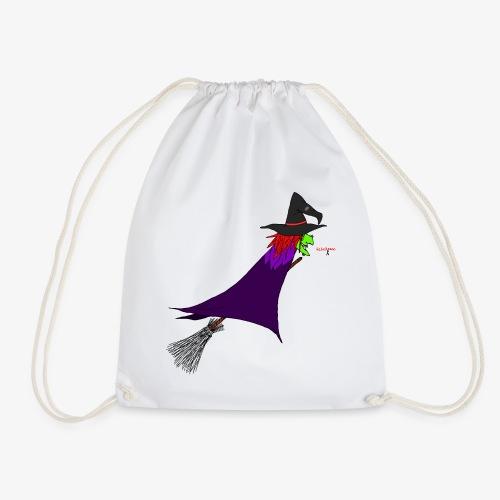 Hexe fliegt auf dem Besen - Turnbeutel