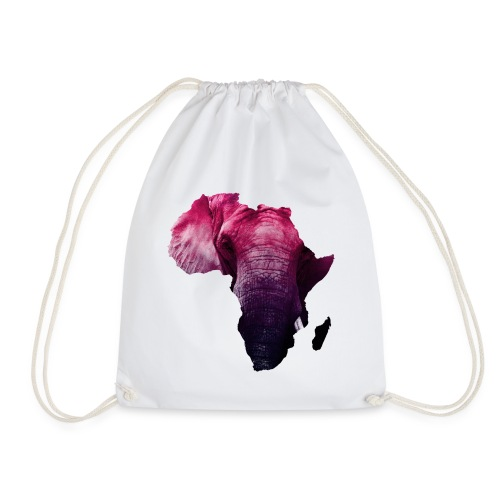 continent africa with elephant background - Turnbeutel