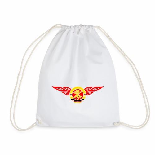Car flames crest 3c - Drawstring Bag