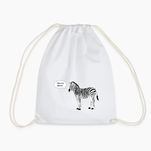 Zebra - Dare to be different - Drawstring Bag