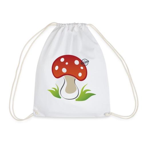 Mushroom - Symbols of Happiness - Drawstring Bag