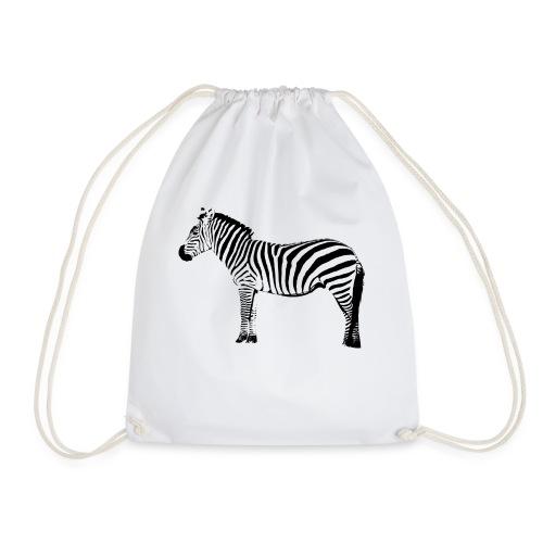 Zebra - Drawstring Bag