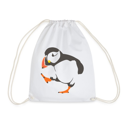 Walking puffin - Drawstring Bag