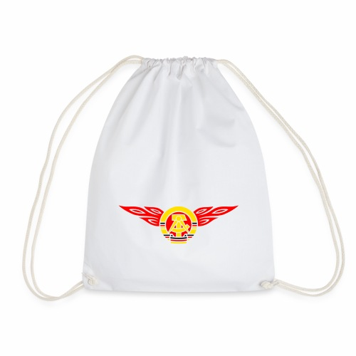 GDR flames crest 3c - Drawstring Bag
