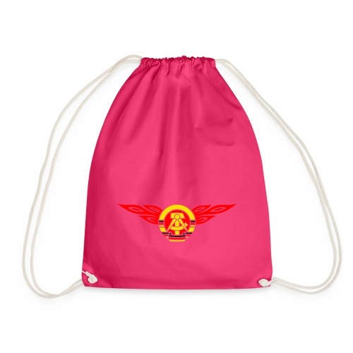 GDR flames crest 3c - Drawstring Bag