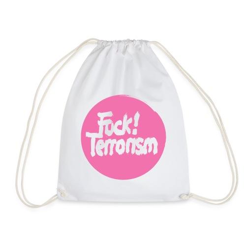 FUCK TERRORISM PINK_WOMEN T-SHIRT WHITE - Turnbeutel