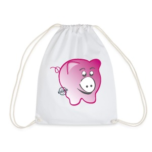 Pig - Symbols of Happiness - Drawstring Bag
