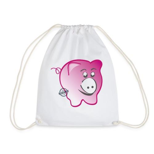 Pig - Symbols of Happiness - Drawstring Bag