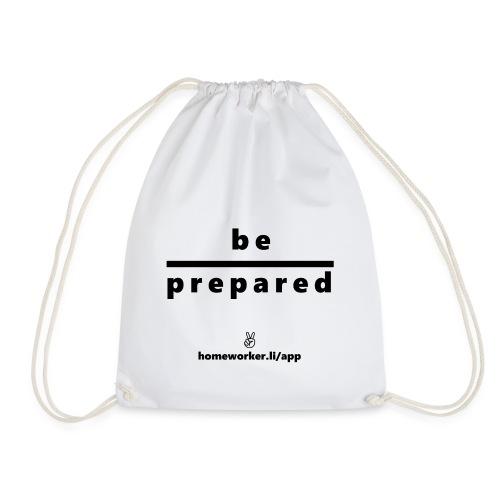 be prepared (schwarz) - Turnbeutel