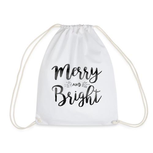 merry bright watercolor - Turnbeutel