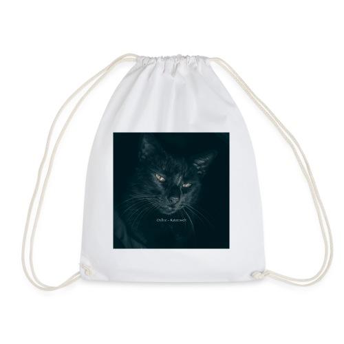 Schwarze Katze - Turnbeutel