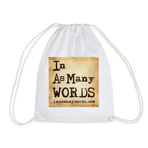 I AM Words LOGO_Brown - Drawstring Bag