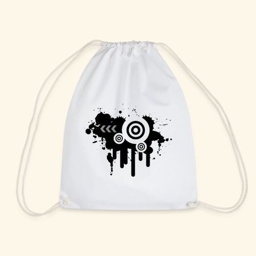Black Grunge Vector - Drawstring Bag