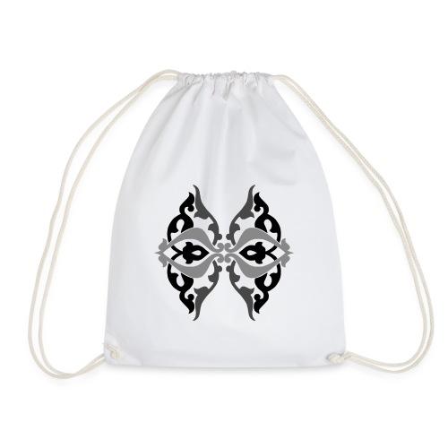 Parvaneh black and white - Drawstring Bag