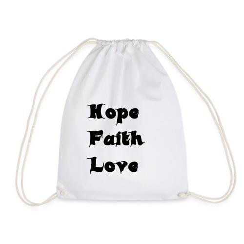 Hoffnung, Glaube, Liebe - Turnbeutel