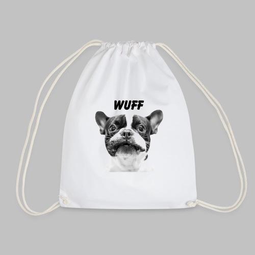 Wuff - Hundeblick - Hundemotiv Hundekopf - Turnbeutel