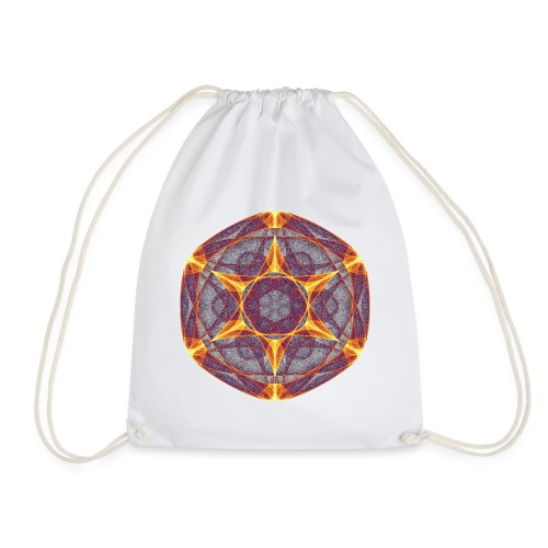 Star Poinsettia Mandala Lucky Star 9401I - Drawstring Bag
