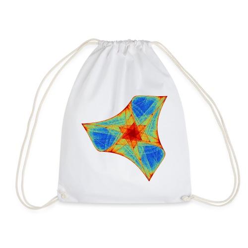 Colorful boomerang starfish sea creature 12117j - Drawstring Bag