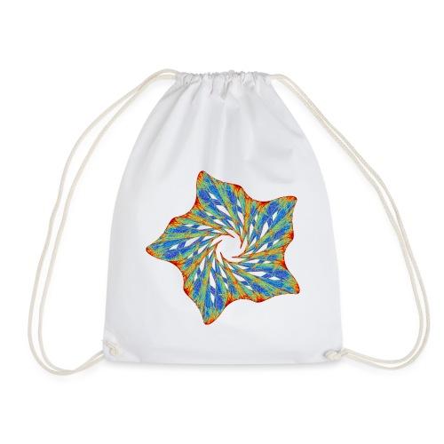 Colorful starfish with thorns 9816j - Drawstring Bag