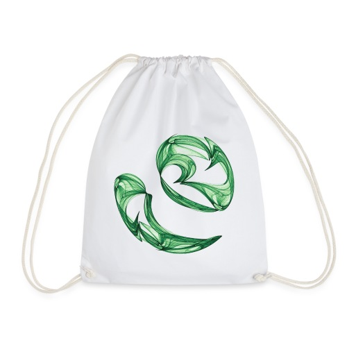 Unequal pair of green twins in the wind 7761alg - Drawstring Bag
