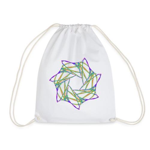 Chakra Mandala Mantra OM Chaos Star 12088grbw - Drawstring Bag