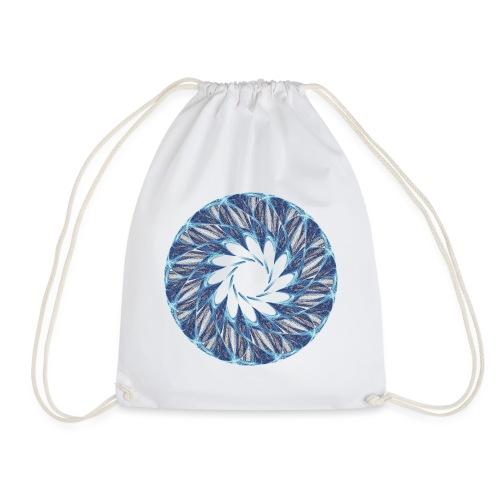 Chakra Mandala Mantra OM Chaos Star Circle 12235ic - Drawstring Bag