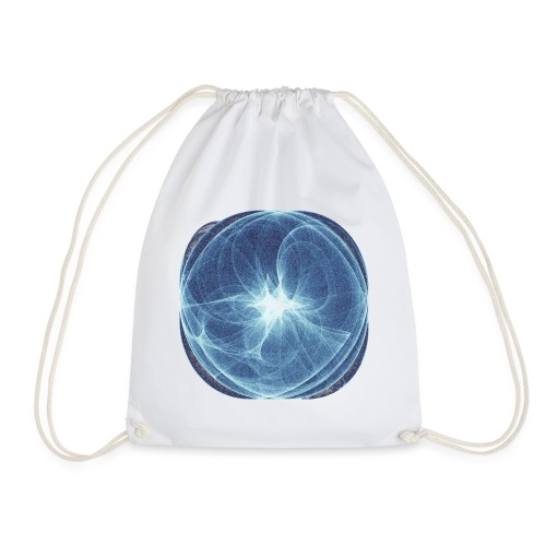 Watercolor art graphic painting picture chaos 13980 ice - Drawstring Bag