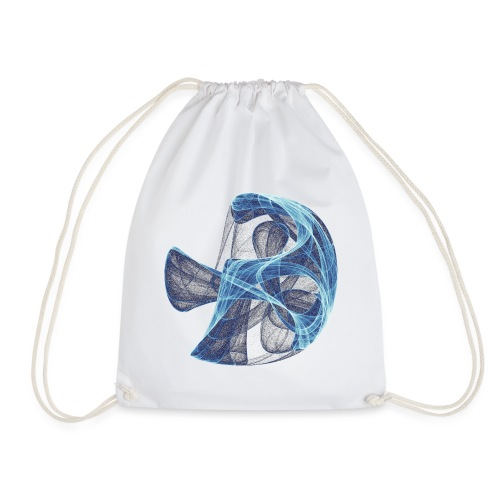 Watercolor art graphic painting picture chaos 13834 ice - Drawstring Bag