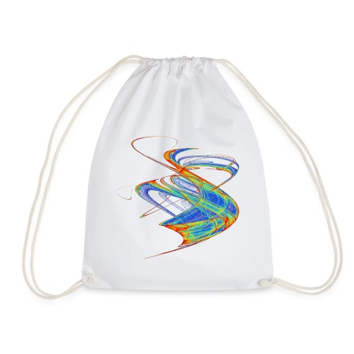 Watercolor art graphic painting picture chaos 13720 jet - Drawstring Bag