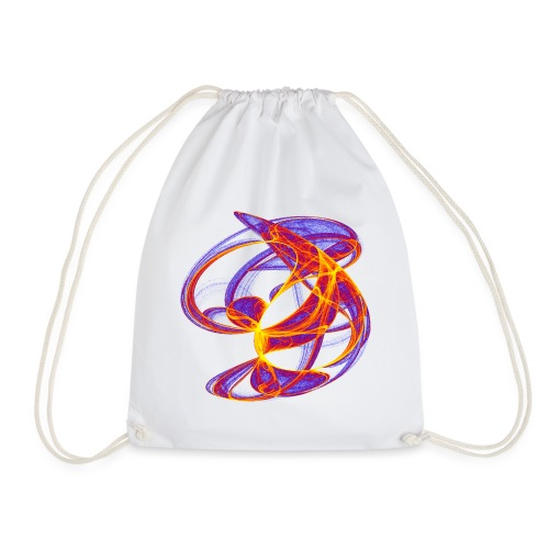 Play of colors of the Clifford-Bahnen watercolor 7839bry - Drawstring Bag