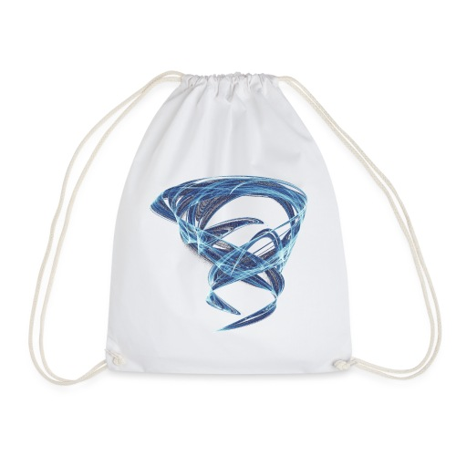 Chaotic Ice Water Whirlwind 11387ice - Drawstring Bag