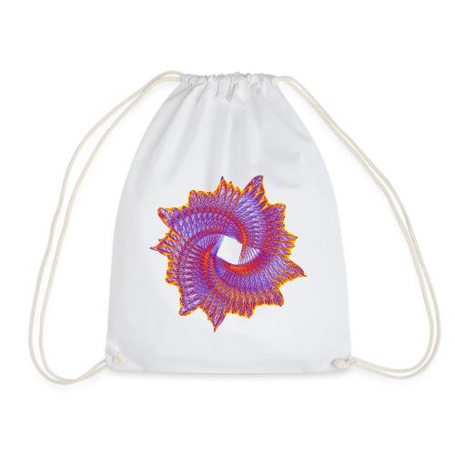 Spiral fan ammonite prehistoric animal fossil 11912bry - Drawstring Bag