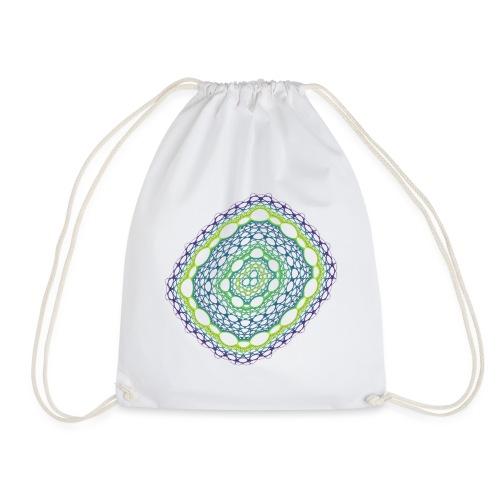 Emerald weave spun from the chaos 5320viridis - Drawstring Bag