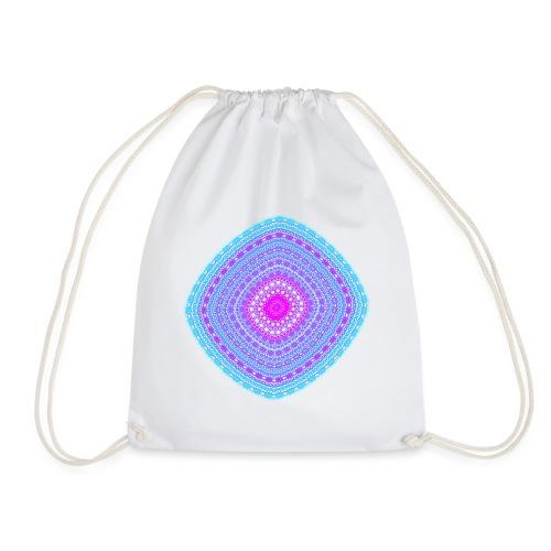 cheerful blue diamond 5400 cool poster - Drawstring Bag