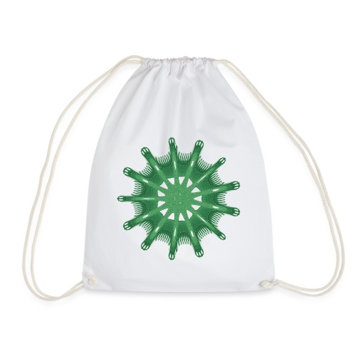 green steering wheel Green starfish 9376alg - Drawstring Bag