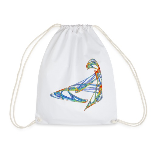 Happy play of colors 853 jet - Drawstring Bag